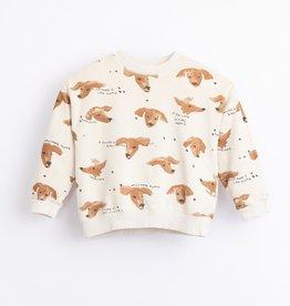 Play-up Printed Fleece Sweater | Miró
