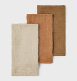 Lil Atelier Nappies 3 pack   Tobacco Brown