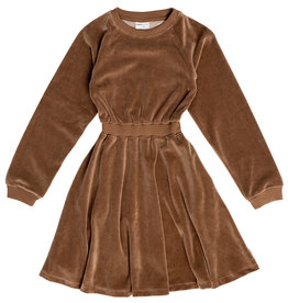 Maed for mini Caramel Coyote - Velour Dress