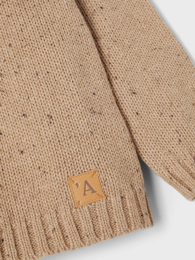 Lil Atelier Longsleeve Knit   Tobacco Brown