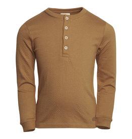 en'fant T-shirt LS Structure   Tobacco Brown