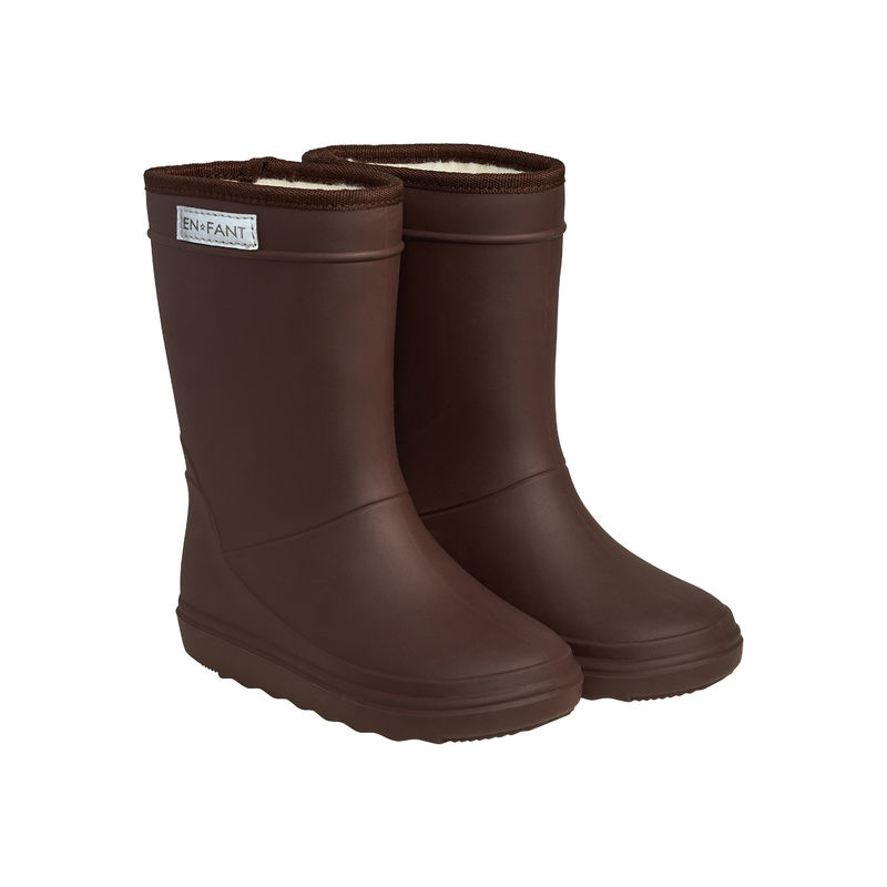 en'fant Thermo Boots Solid   Dark Brown