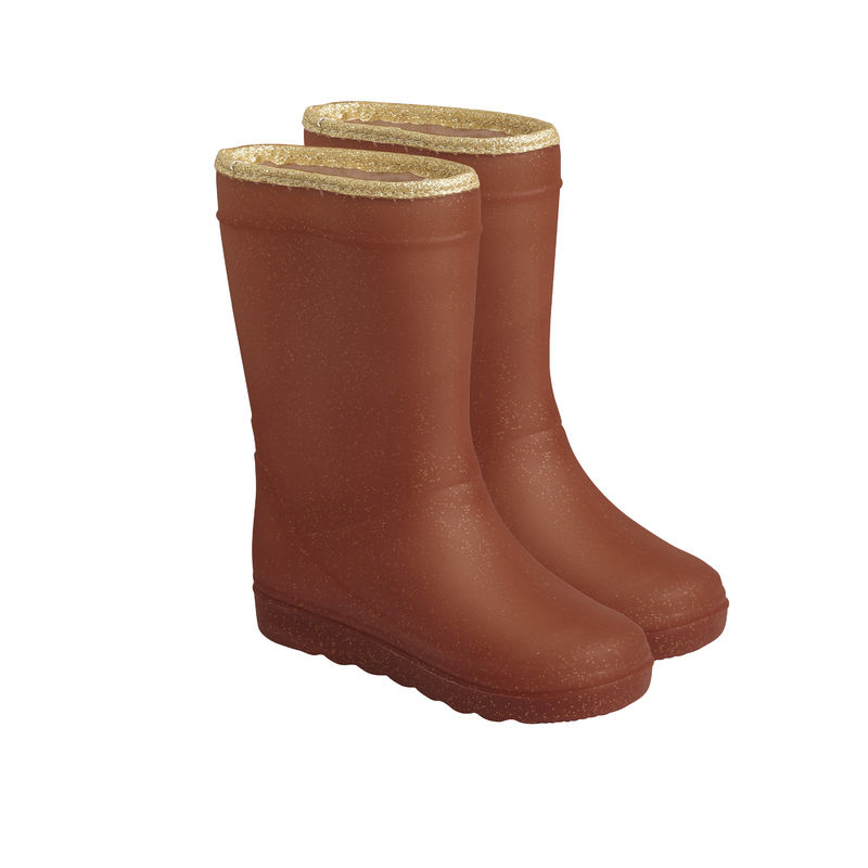 en'fant Thermo Boots Glitter   Leather Brown