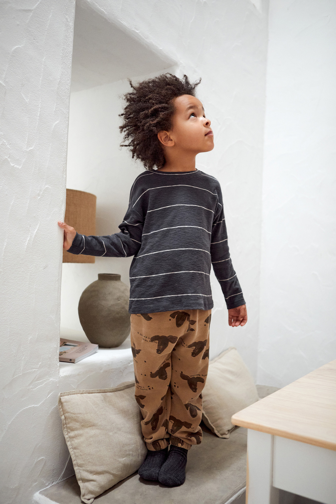 Play-up Printed Fleece Trousers   Paper