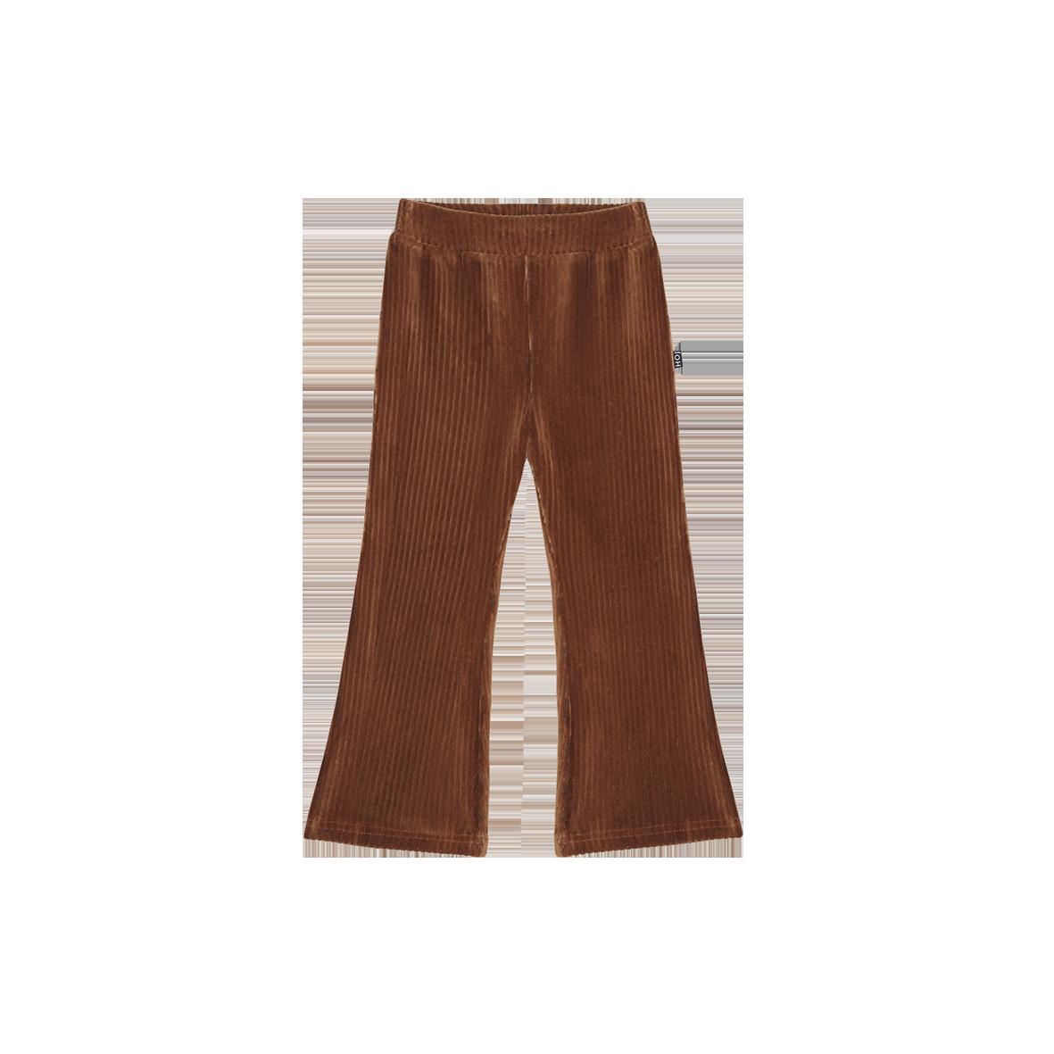 House of Jamie Flared pants| Ginger Bread rib velvet