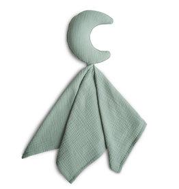 Mushie Lovely Blanket | Moon Roman green