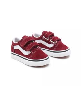 Vans Old Skool V | Pomegranate/True White