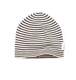 Mingo Knitted Beanie | Monochrome stripes