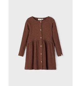 Lil Atelier Ls dress Lil | Chestnut