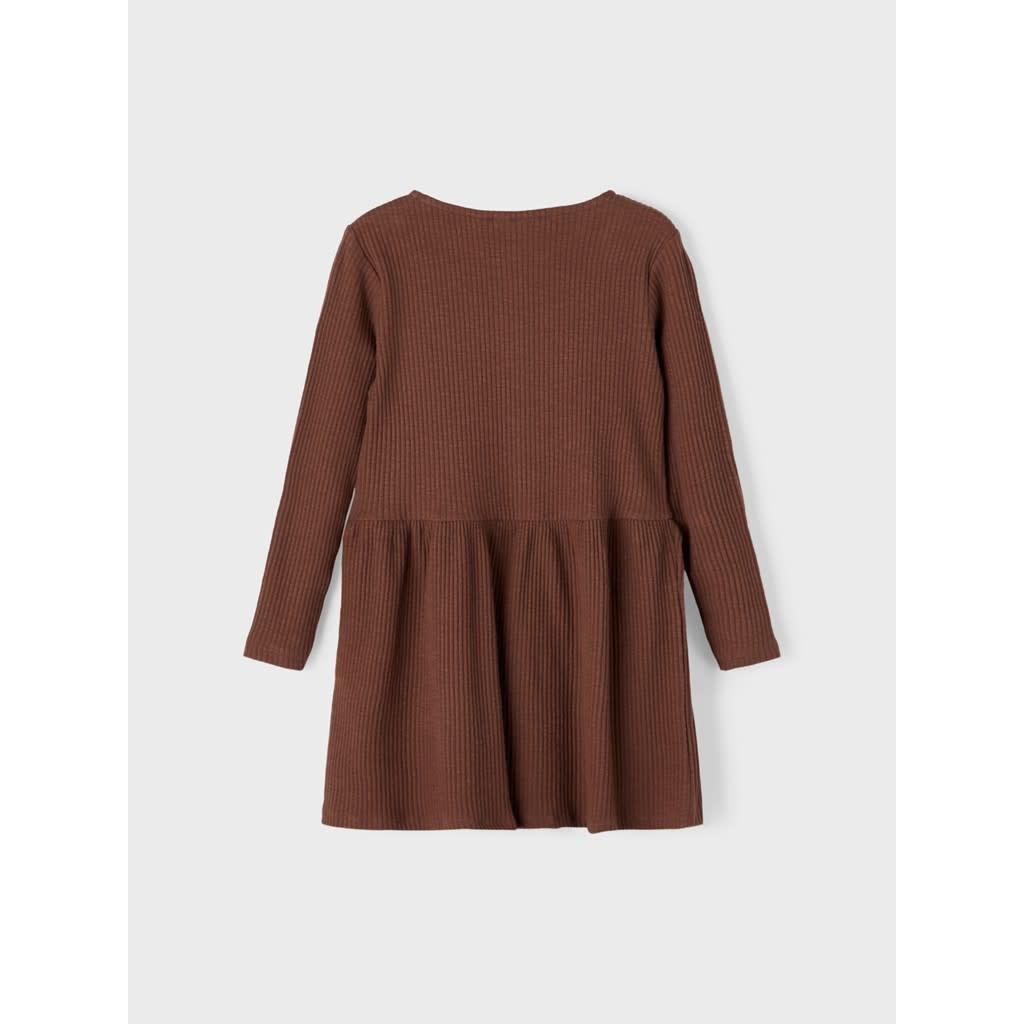 Lil Atelier Ls dress Lil   Chestnut