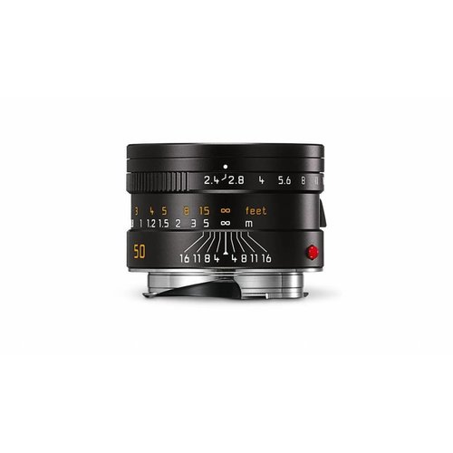 Leica SUMMARIT-M 50 mm f/2.4, black anodized finish