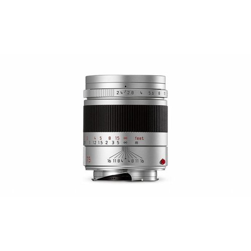 Leica SUMMARIT-M 75 mm f/2.4, silver anodized finish