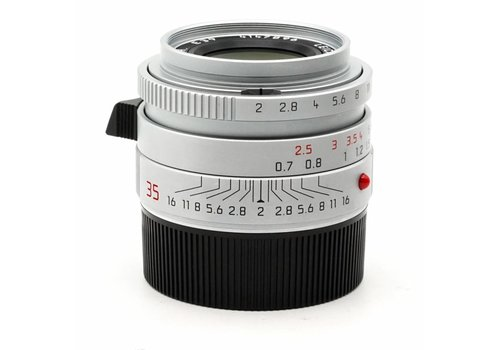 Leica 35mm f/2 Summicron ASPH Silver Chrome  (6BIT)
