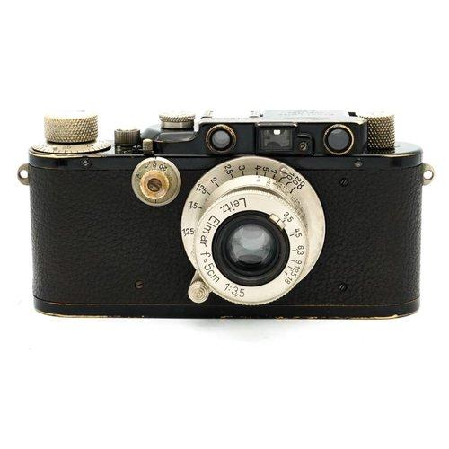 Leica III Black Paint + 5cm f/3.5 Nickel Elmar x548