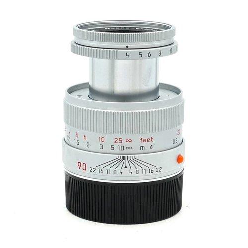 Leica 90mm f/4 Macro Elmar Silver Chrome