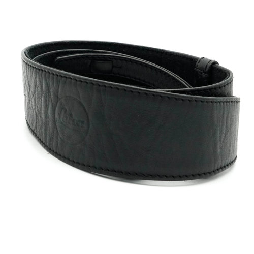 Leica Wide Leather Strap, Black x830