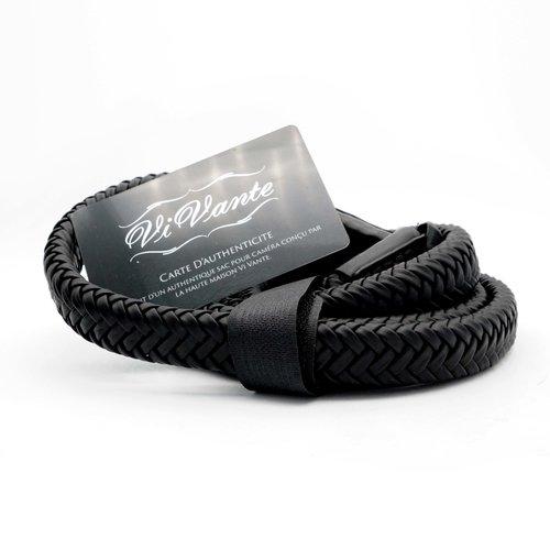 Vi Vante Matador Noir Braided Leather Strap