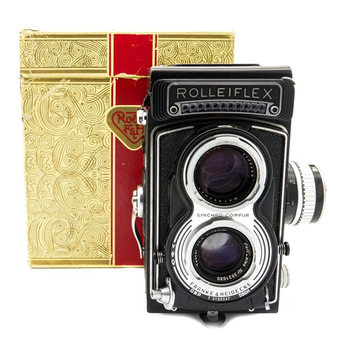 Rollei Rolleiflex T, Boxed Outfit x629
