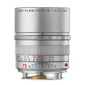 Leica 75mm APO-SUMMICRON-M f/2 ASPH. silver anodized