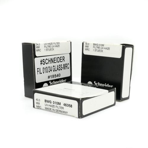 B+W 010 UV/Haze filter glass only (set of 3) x1072/7