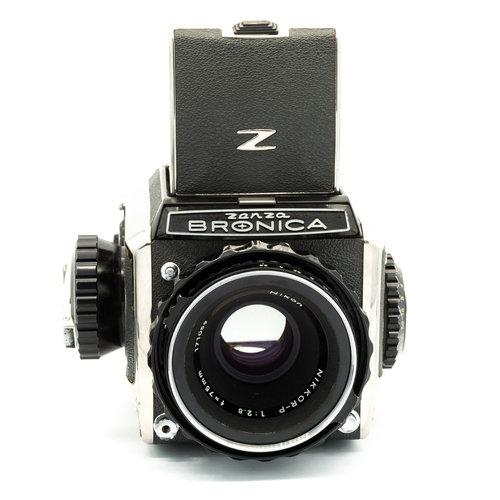 Bronica Model C, + 75mm f/2.8 P-Nikkor x1129/2