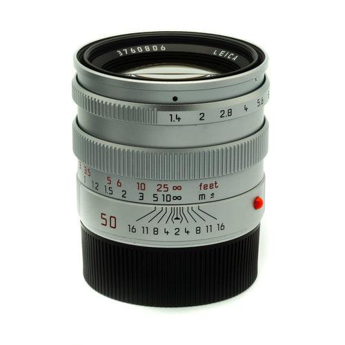 Leica 50mm f/1.4 Summilux Mk II, Silver Chrome