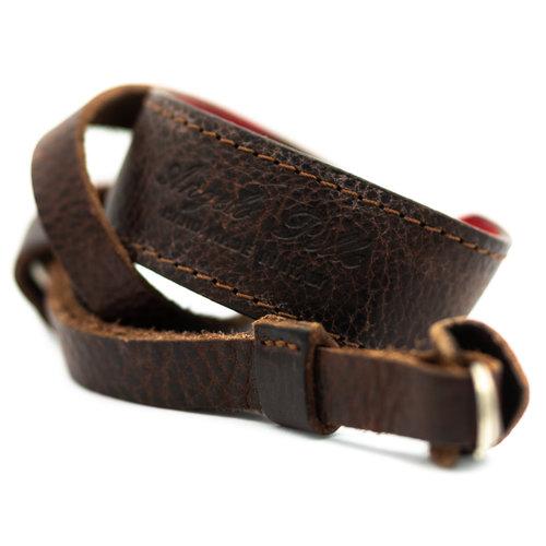 Angello Pelle Neck Strap, Vintage Brown x1146/13
