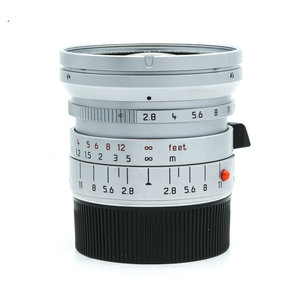 Leica 21mm f/2.8 Elmarit-M, silver chrome