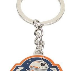 SD Toys Star Wars The Force Awakens: BB-8 Orange Edge Metal Keychain