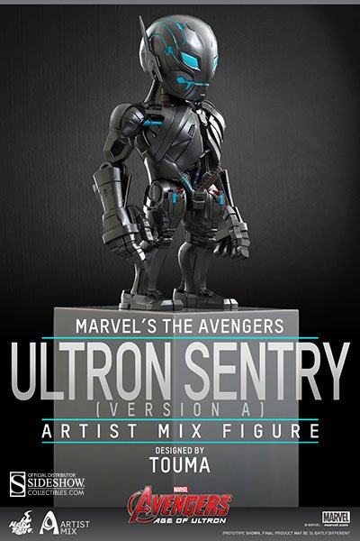 Hottoys Avengers Age of Ultron Artist Mix Bobble-Head Ultron Sentry Version A 14 cm