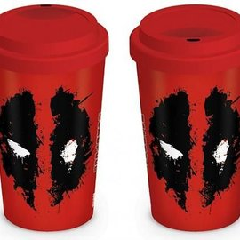 Hole In The Wall Dc Comics Deadpool Splat - Ceramic Travelmug