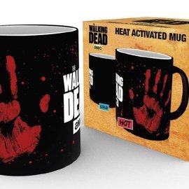 Hole In The Wall WALKING DEAD - Mug Heat Change 300 ml - Hand Print