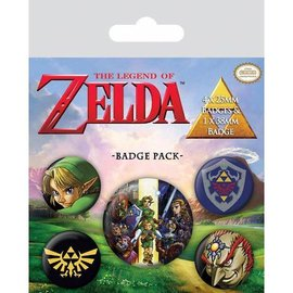 The Legend Of Zelda - Badge Pack Buttons