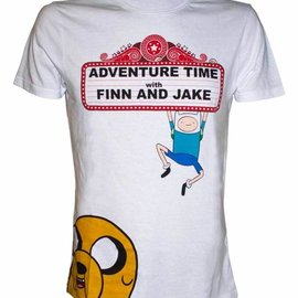 Bioworld ADVENTURE TIME - FINN AND JAKE AT THE MOVIES T-SHIRT