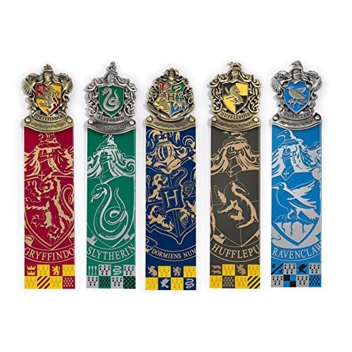 The Noble Collection Harry Potter: Crest Bookmarks 5 Piece Set