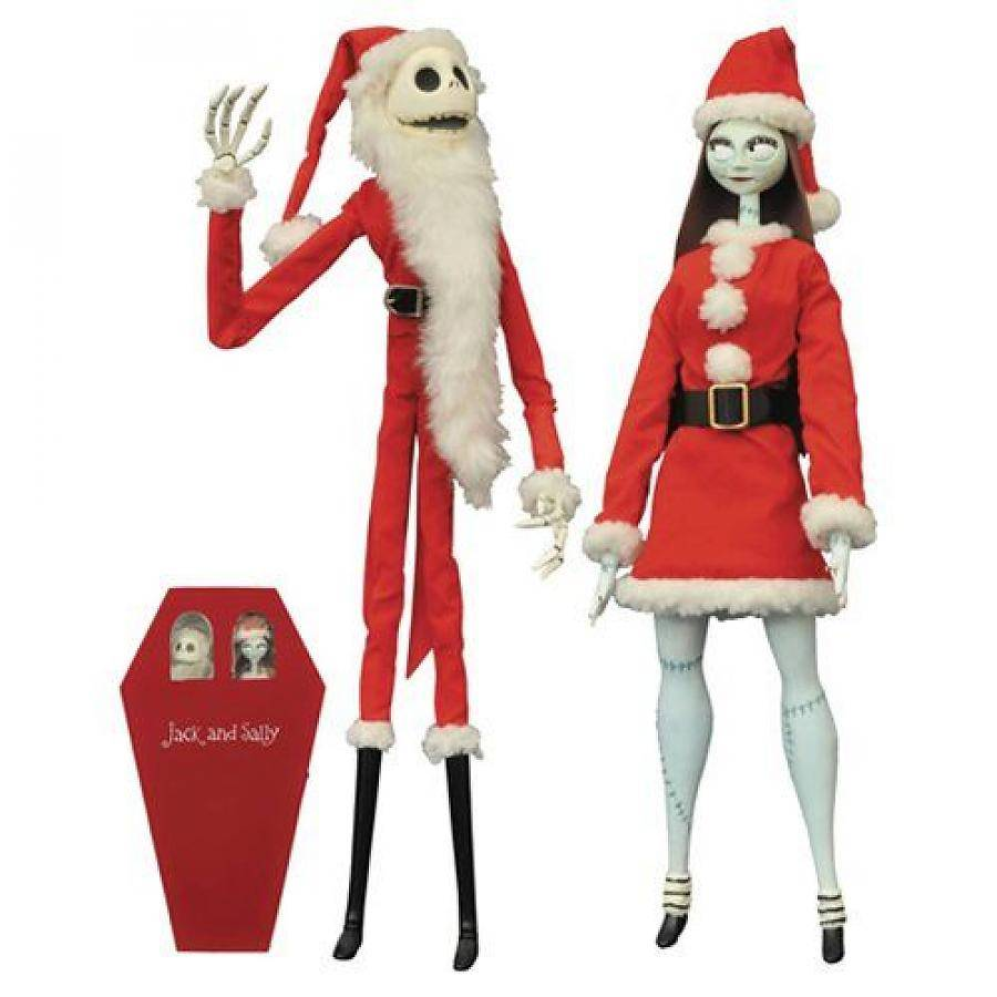 Jack & Sally Coffin Doll set