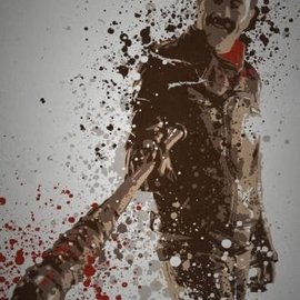 "TMCreativeDesign Ltd ""Savior"" Splatter effect artwork inspired by Negan"