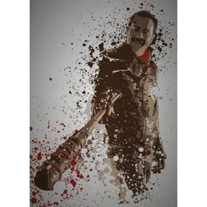 "TMCreativeDesign Ltd Savior"" Splatter effect artwork inspired by Negan"