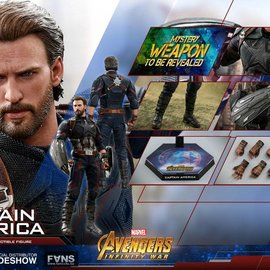 Hottoys Marvel: Avengers Infinity War - Captain America 1:6 Scale Figure