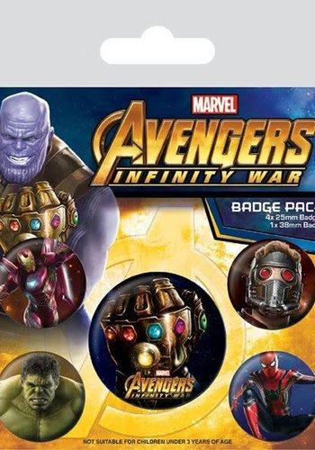 Avengers Infinity War - Badge Pack