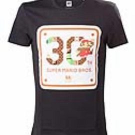 Bioworld Nintendo - T-shirt Black 30th Anniversary