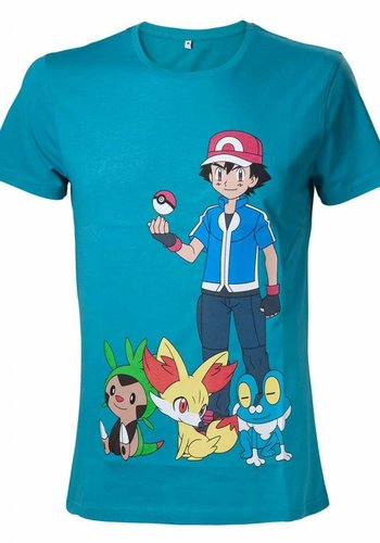 Pokémon - Ash Ketchum Blue T-Shirt