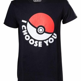 CID Pokémon - I Choose You Black T-Shirt