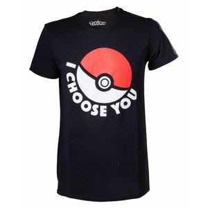 CID Pokémon - I Choose You Black T-Shirt