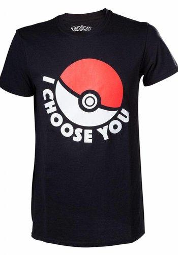 Pokémon - I Choose You Black T-Shirt