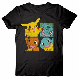 CID Pikachu and Friends Black T-Shirt