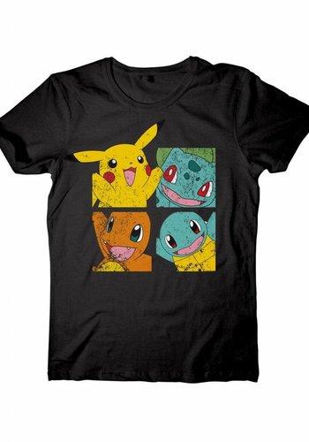 Pikachu and Friends Black T-Shirt