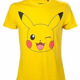 CID Pikachu Winking Yellow T-Shirt