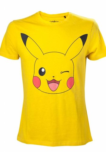 Pikachu Winking Yellow T-Shirt