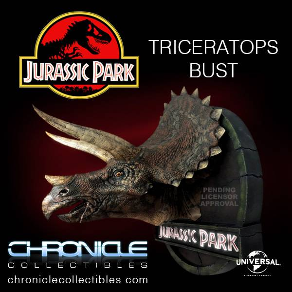 Chronicle Collectibles Jurassic Park: Triceratops 1:5 Scale Bust